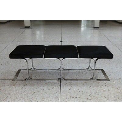 """63.25"""" Wide Airline Bench Black Angus Reminiscent Innovative Seating Designed Pu"""