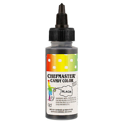 Chefmaster by US Cake Supply 2-Ounce Liquid Candy Food Color Color Black