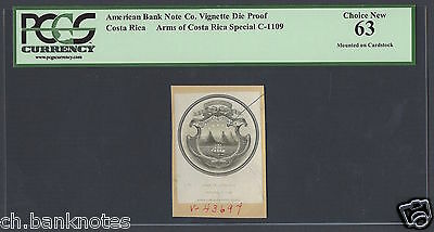 Costa Rica Vignette Die Proofs  Arms of Costa Rica Rare Uncirculated