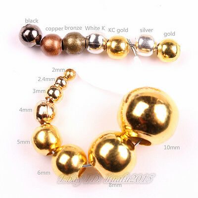 All Size All Color Metal Round Beads Spacer Jewelry Finding Necklace Bracelet