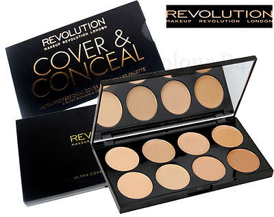 MAKEUP REVOLUTION Cover & Conceal Palette Contour Highlighter Light - Medium