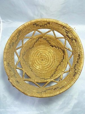 "Native American Large Weave Basket Bowl. Very Nice Design. Approx. 5"" T x 12"" D"