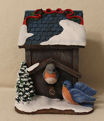 Hawthorne Village Eastern Bluebird Songbirds Holiday Birdhouse Figurine
