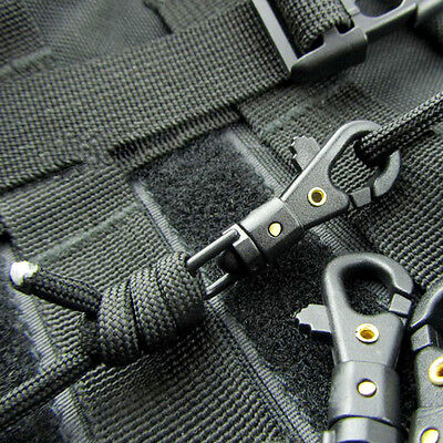 10 PCS Mini Rotatable Buckle Hang Quickdraw Outdoor Survival Carabiner Key Chain