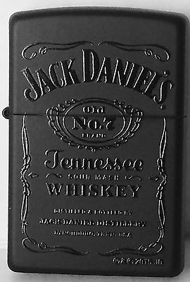 Zippo Windproof Black Matte Lighter With Black Jack Daniels Logo, 46813, NIB