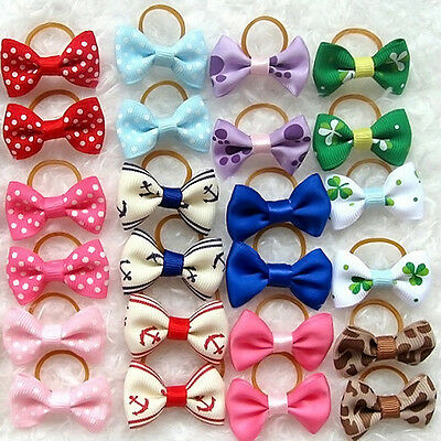 100 PCS Handmade Designer Pet Dog Accessories Grooming Hair Bows For Dogs New