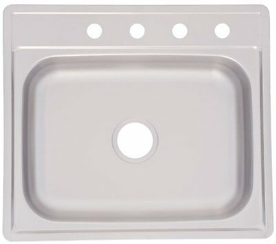 Kindred FSS604NB Single Bowl Stainless Steel 35x22in. Topmount Sink, New, Free S