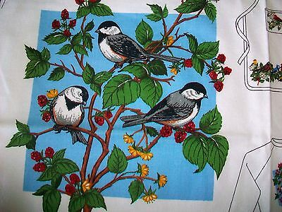 17 Large Christmas Bird Appliques Cotton Fabrics