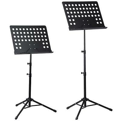 Heavy Duty Telescopic Orchestral Sheet Music Stand Holder Tripod Base Foldable