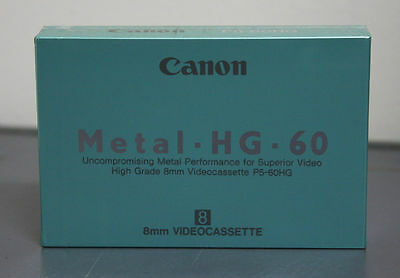Bulk of 10 NOS Canon 8mm Videocassette Metal HG 60
