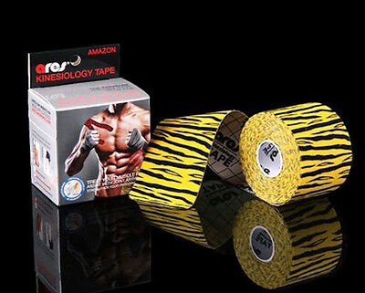 Ares Tape Amazon - Tiger Yellow - Uncut Kinesiology Tape PRO Elastic Sports KT