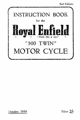 1949-1950 Royal Enfield 500 Twin instruction book
