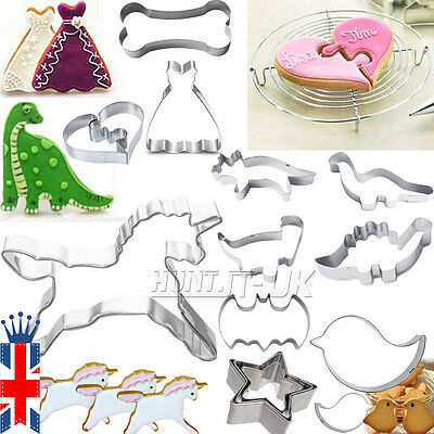UK Stainless Steel Biscuit Cookie Pastry Fondant Mold Mould Cutter Cake Decor