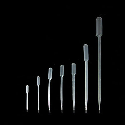 0.5ml 3ml 5ml Disposable Plastic Pipettes Pipets Eye Dropper Transfer Graduated