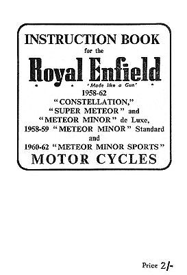 1958-1962 Royal Enfield Twins instruction book