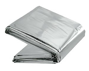 REFLECTIVE EMERGENCY OUTDOOR SURVIVAL BLANKET FOIL COVER HIGHLANDER 132x210cm