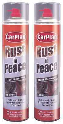 2 x CarPlan 'Rust In Peace' Rust Remover 400ml - WRP400 - £6.19 per can