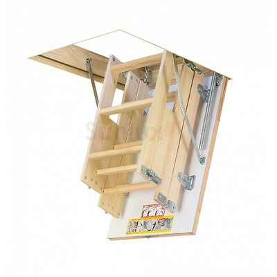 58cm x 92cm 4 section wooden loft ladder & hatch Attic Stairs (H up to 280CM)