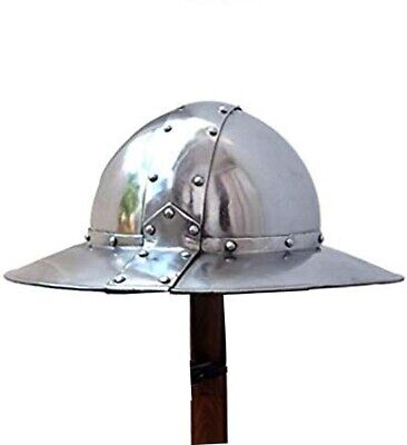 English Kettle Helmet Deluxe Costume/ LARP/ SCA/ Collector Edition d1