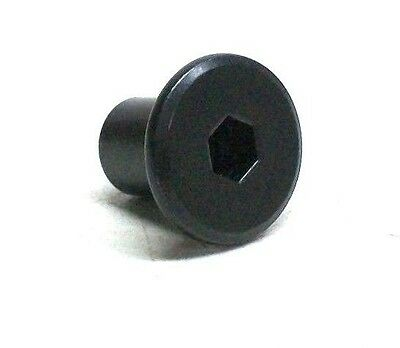 """Lot Of 10 New 1/4-20 Flat Socket Head Joint Connector Nut 1/2"""" Length Black Nc"""