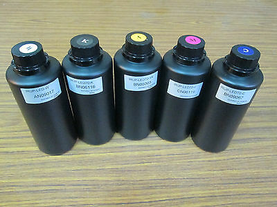 Free shipping 500ml *5 Hi-Q LED Curing UV ink for Epson printhead  (Taiwan)
