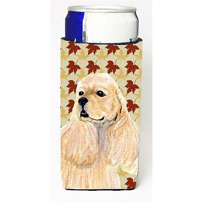 Cocker Spaniel Fall Leaves Portrait Michelob Ultra s For Slim Cans 12 oz.