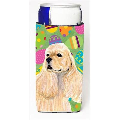 Cocker Spaniel Easter Eggtravaganza Michelob Ultra bottle sleeves For Slim Ca...