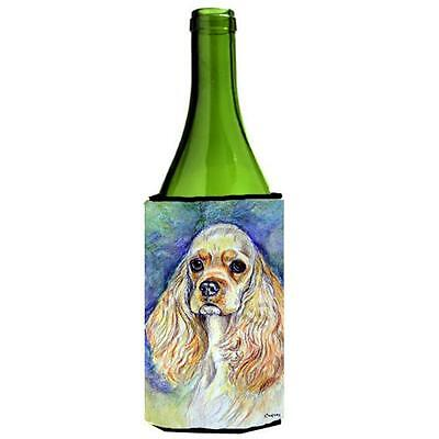 Carolines Treasures Buff Cocker Spaniel Wine bottle sleeve Hugger 24 oz.
