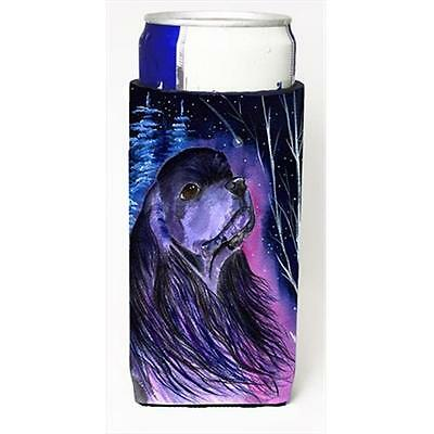 Starry Night Cocker Spaniel Michelob Ultra bottle sleeves For Slim Cans