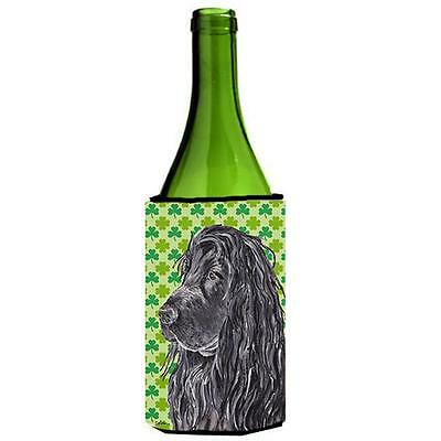 English Cocker Spaniel St Patricks Irish Wine bottle sleeve Hugger 24 oz.