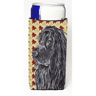 English Cocker Spaniel Fall Leaves Michelob Ultra bottle sleeve for Slim Can