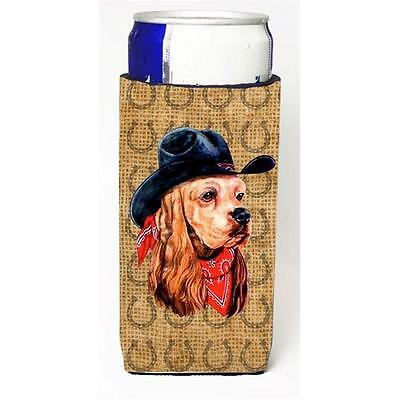 Cocker Spaniel Dog Country Lucky Horseshoe Michelob Ultra bottle sleeves For ...
