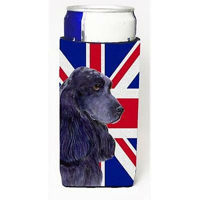 Cocker Spaniel With English Union Jack British Flag Michelob Ultra bottle sle...