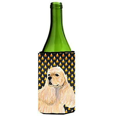 Carolines Treasures Cocker Spaniel Halloween Portrait Wine Bottle Hugger 24 oz.