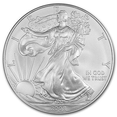 (1) 2008 American Silver Eagle United States Mint Brilliant Uncirculated Coin!