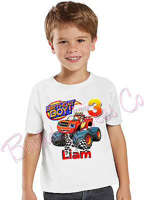 Blaze and the Monster Machines Birthday Personalized Shirt Add Name and Age
