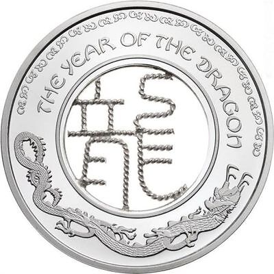 Fiji 2012 1$ Lunar Year of the DRAGON FILIGREE Proof Silver Proof Coin SALE!!!