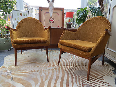 A Pair Of Vintage East German Cocktail Lounge Armchairs Circa 1965 My16/11