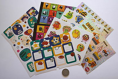 SCRAPBOOKING NO 496 - 55 PLUS Small to Medium STICKERS VARIETY PACK