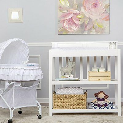 Dream On Me Zoey 3-in-1 Convertible Changing Table, White