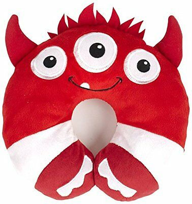 Nuby Kid's Neck Support Pillow, Monster, Red, Toddler Car Seat Pillow, Baby Head