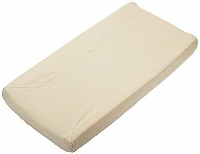 TL Care Organic Cotton Velour Fitted Contoured Changing Pad Cover, Natural, 17""