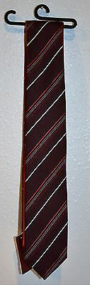 Alfani Men's Tie Rev Reversible Stripe to Solid Red New Without Original Tag