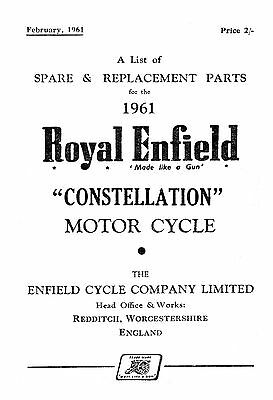 1961 Royal Enfield Constellation parts book