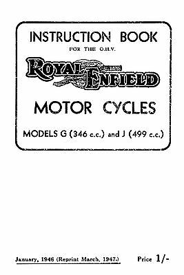1945-1947 Royal Enfield G & J instruction book