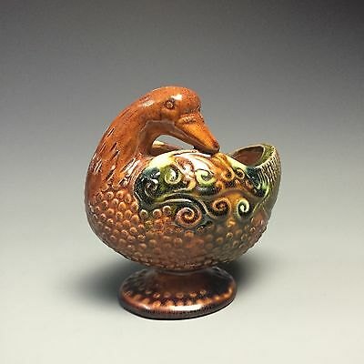 A superb chinese tang tri-colored glazed porcelain duck-shaped pot