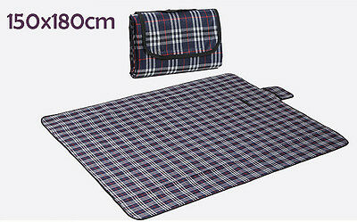 Blue Checker Outdoor Beach Camping Picnic Travel Rugs Carry Mat Blanket 150*180