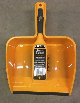 JCB Heavy DutyDustpan And Brush Set PVC Dust Pan Set Sweeping Cleaning