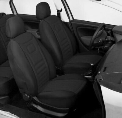 2 Black Front Car Seat Covers Protectors For Peugeot 206