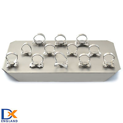 Dental Restoration Set Of 12 Professional Medentra Rubber Dam Clamps Orthodontic